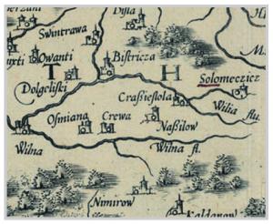 Карта Струбіча 1589 г.