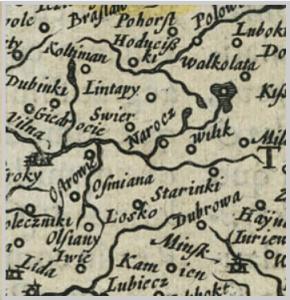 Карта Меркатара 1607 г.