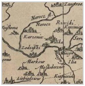 Карта Блаў 1631 г.